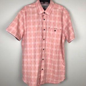 Ted Baker Short Sleeve Button Up Shirt Kryko Pink